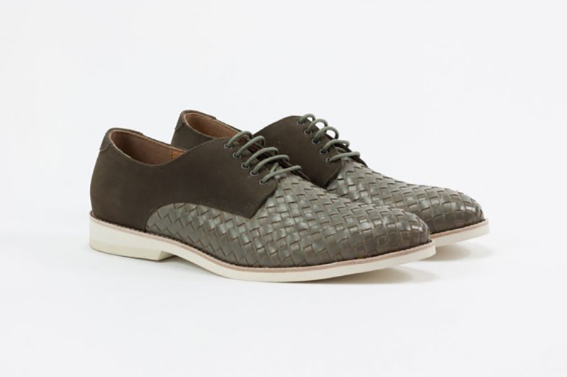 Amsterdam Shoe Co. Woven Leather Lace-Up