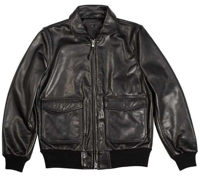 unis leather bomber jacket
