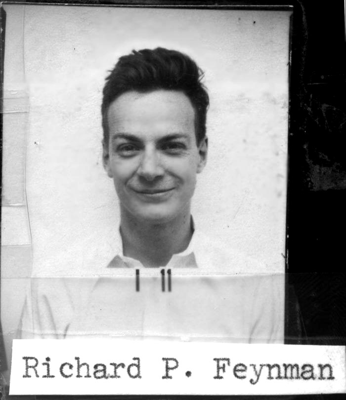 Feynman's Los Alamos badge