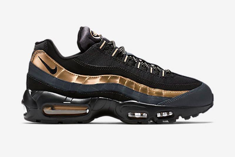 11e3782652 Nike Air Max 95 Premium - Black/Metallic Gold
