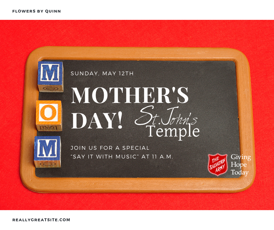 Upcoming Events — The Salvation Army St  John's Temple