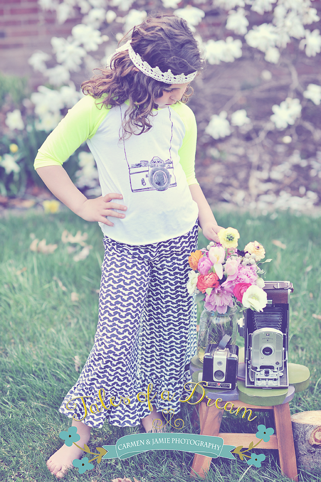 camera stamp used directly on a shirt! We just love this whole outfit...shirt by Ella Mella and pants by Quirky Threadz!