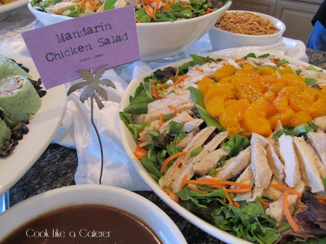Mandarin Chicken Salad with Ginger Sesame Dressing for a Baby Shower Brunch