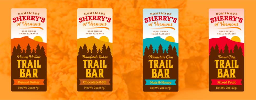 "Sherry's Trail Bars are a local favorite and we've been a grateful partner of Sherry's for years. Unfortunately we cannot currently offer these delicious bars through our platform. Sherry has decided to give any Middlebury Foods customers who contact her through her website a 20% discount off boxes of 12 or more when they order through her website: www.sherrysofvermont.com.  All you need to do is place an order, then enter the coupon code ""MiddleburyFoods"" (all one word) at check out. You can also find Sherry's Trail Bars available at the retail outlets below:   Commodities Natural Market Stowe, VT Henderson's Café University of Vermont AJ's Ski & Sports Stowe, VT Jimmz Pizza Waterbury Center, VT The Pizza Joint Stowe, VT Cabot Cheese Store Waterbury Center, VT Pete's Greens Waterbury Center, VT Richmond Mobil Mart Richmond, VT"