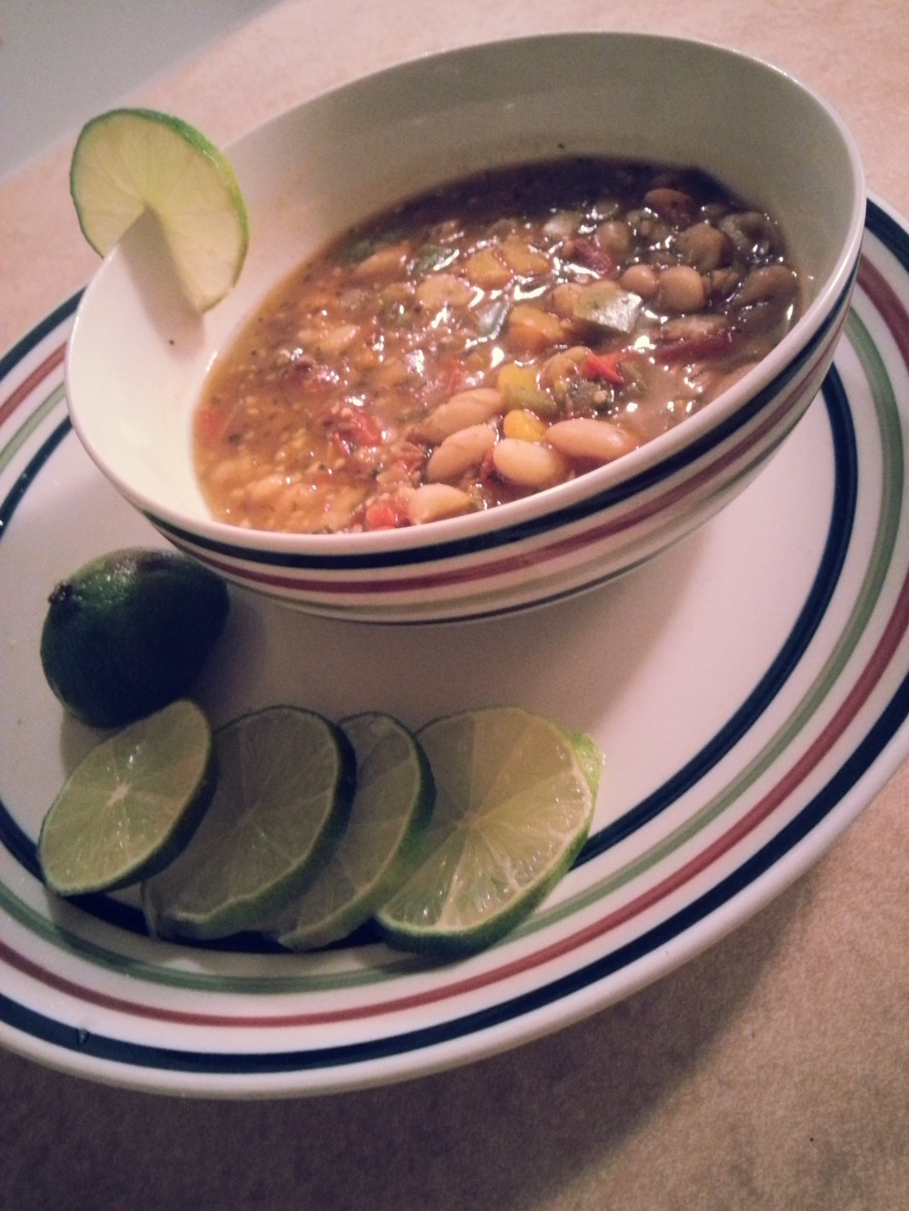 Spicy Lime White Bean Chili