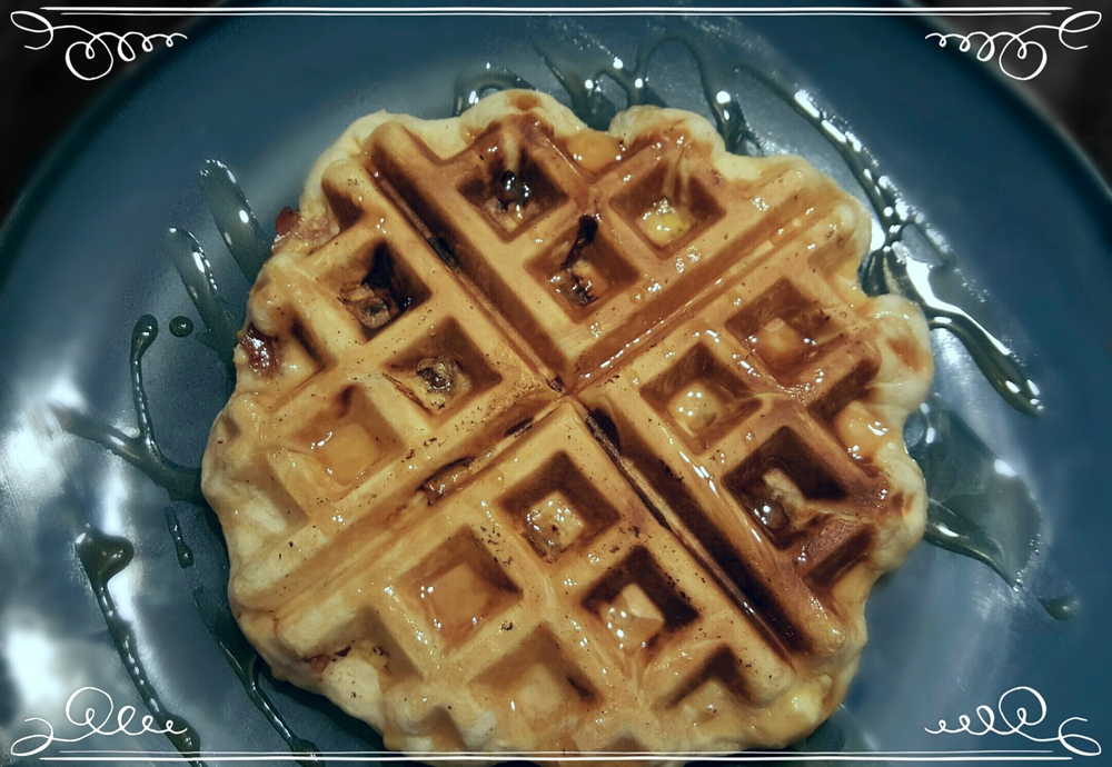 Stuffed Waffle Biscuit