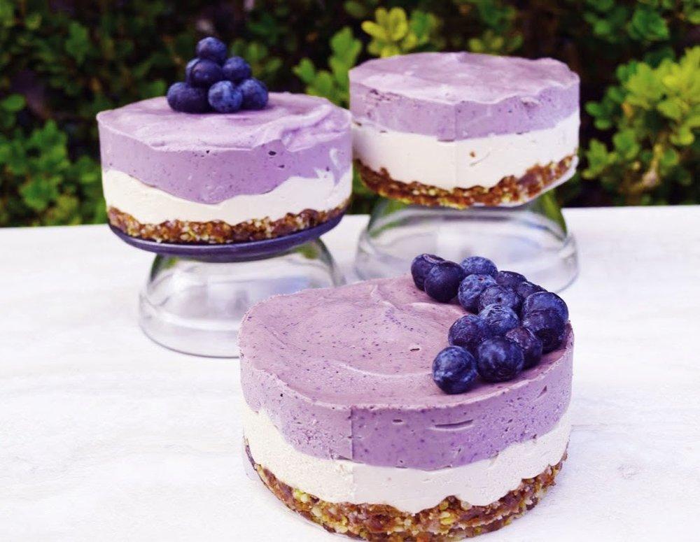 Banana Manna Blueberry Cheesecake