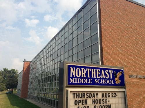 Northeast Middle School with Waite Park Church