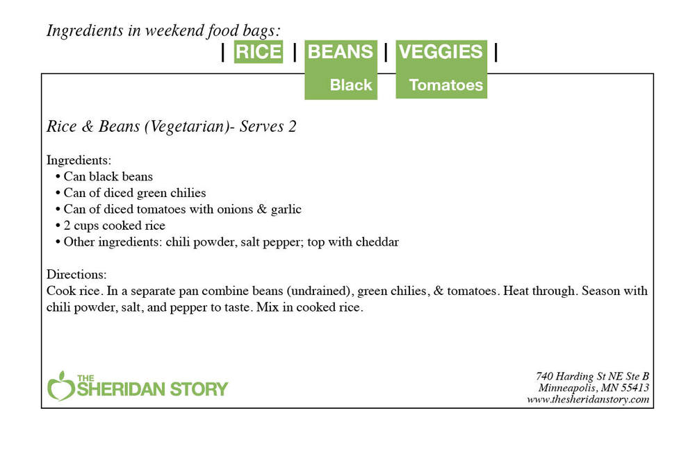 RICE AND BEANS (VEGETARIAN)
