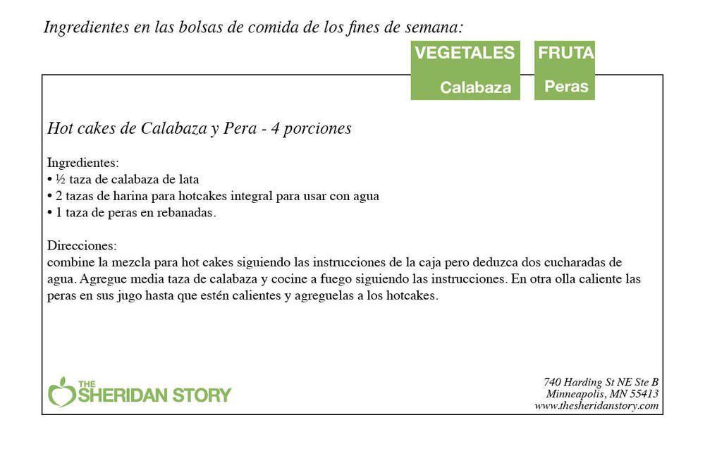 Hot cakes de Calabaza y Pera