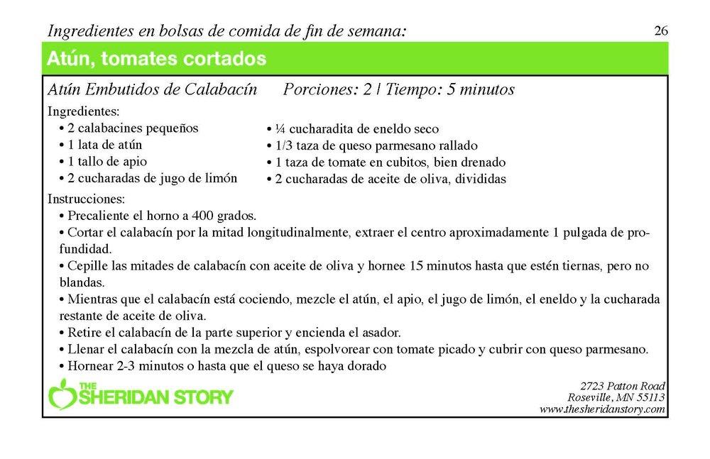 Atun Embutidos de Calabacín
