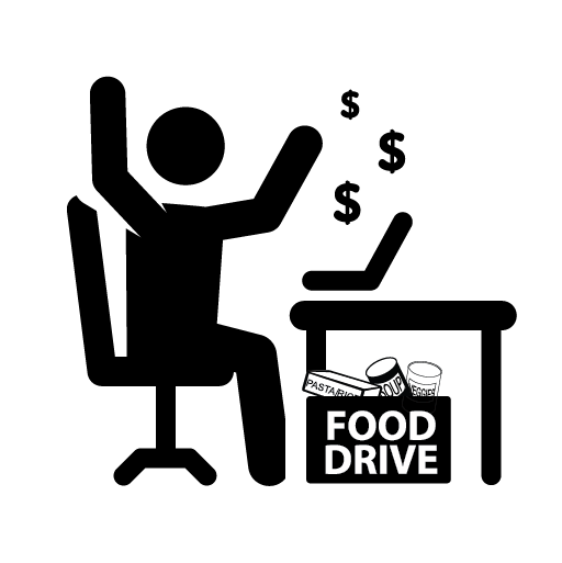 Food and Fund Drive - Collect food AND funds at your work, faith community, or sports team.