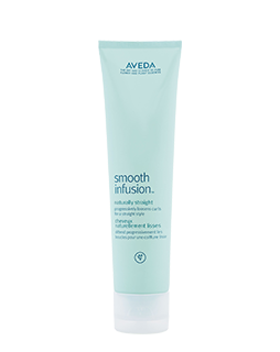 Aveda Smooth Infusion Naturally Straight Styling Creme is a deep conditioning cream that helps to naturally straighten hair while keeping hair moisturised and conditioned.