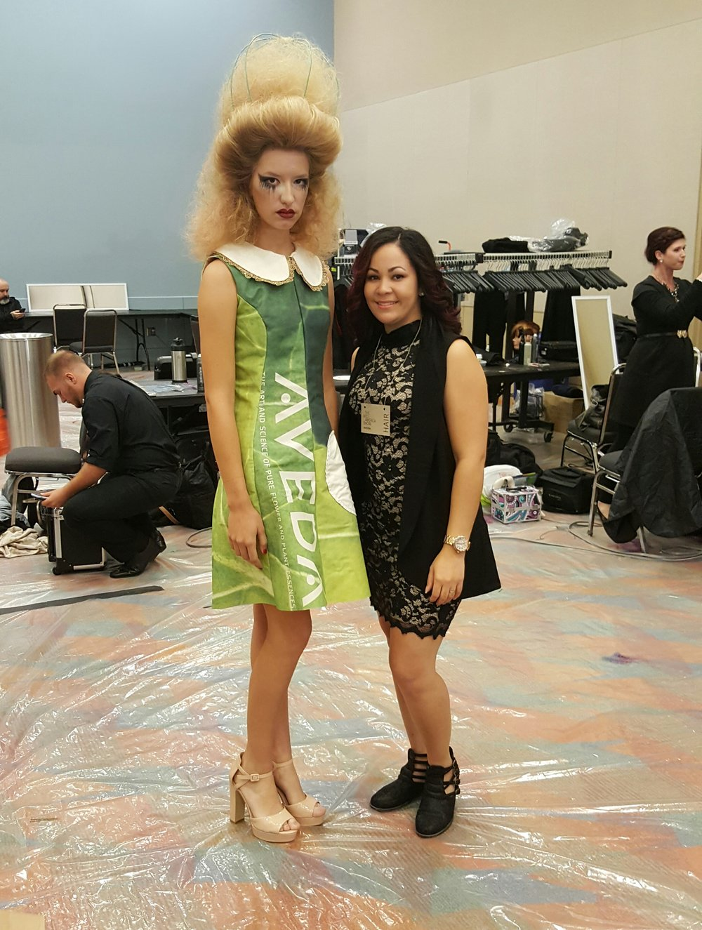 Model with educator Rose Benitez