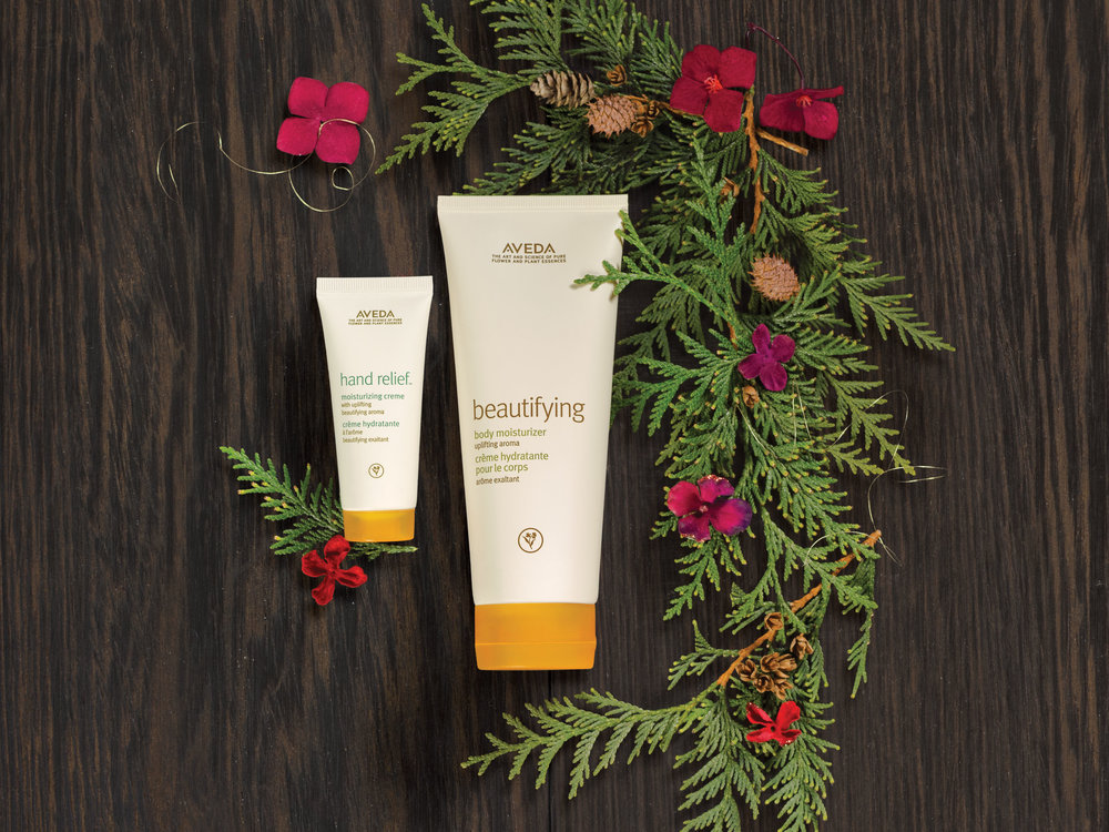 A Gift of Uplifting Nourishment: $40.50 beautifying body moisturizer, 200 ml hand relief™ moisturizing creme with beautifying aroma, 40 m