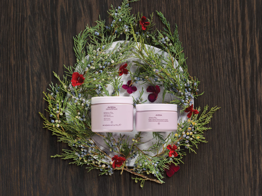 Feeling Less Stress is a Gift: $45  stress-fix™ soaking salts, 170 g stress-fix™ body creme, 100 ml