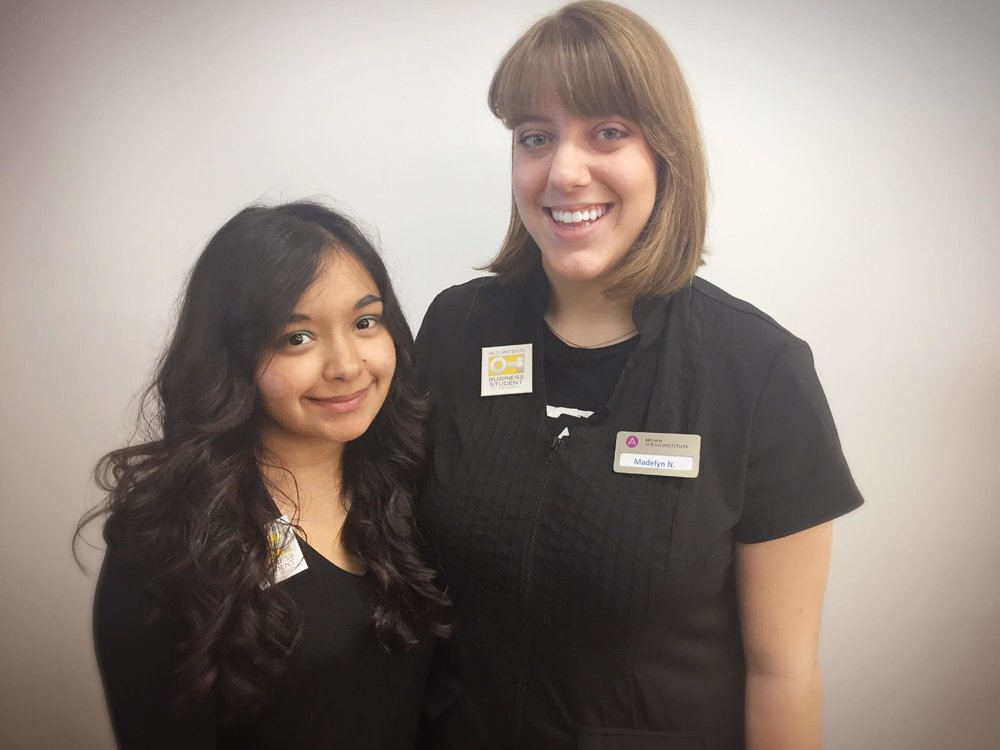Priyanka Nanavaty (Cosmetology) and Madelyn Nichols (Esthetics) are the Students of the Month in Mentor