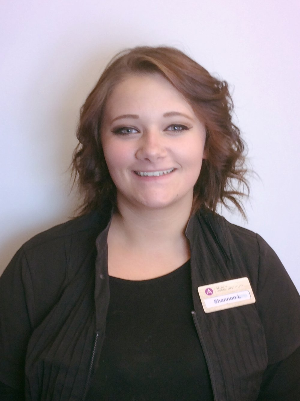 Cosmetology student Shannon Leidich