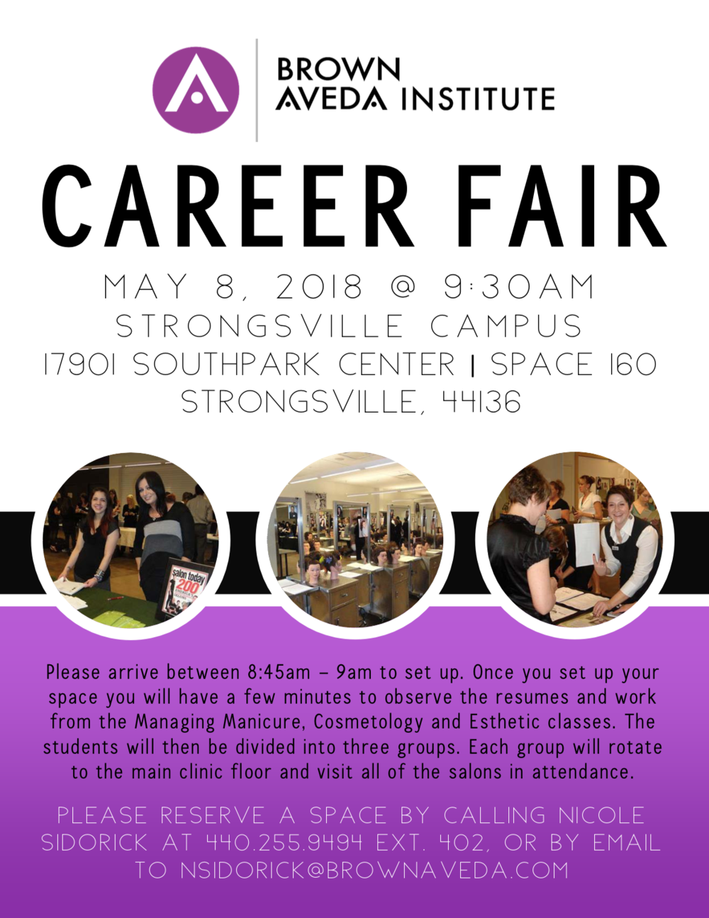 career fair brown aveda institute strongsville