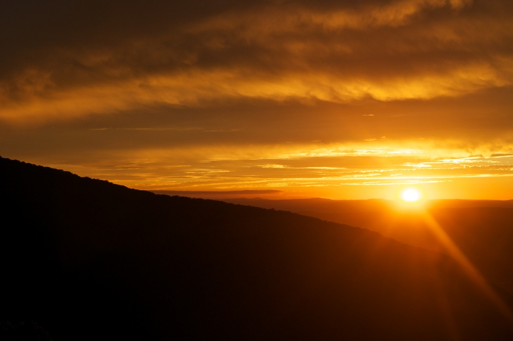nature, landscape, forest, mountains, ridges, appalachia, appalachian, shenandoah, clouds, sky, sun, sunset