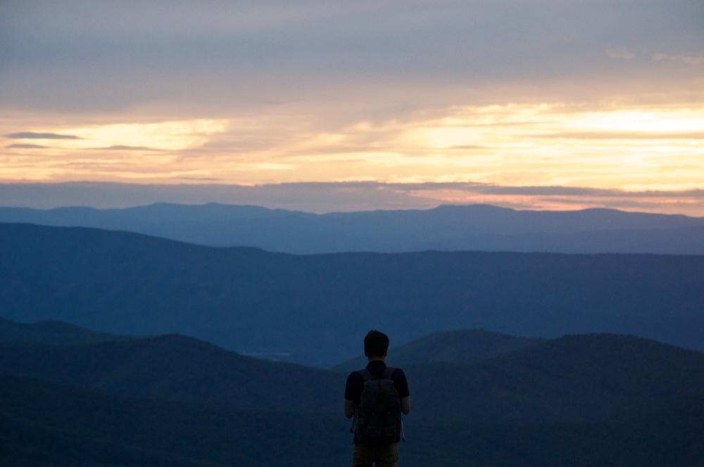 nature, landscape, forest, mountains, ridges, appalachia, appalachian, shenandoah, sillhouette