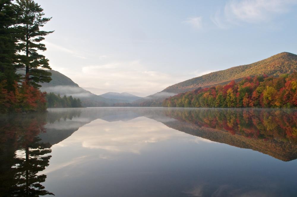 nature, landscape, mountains, lake, adirondacks, debar pond