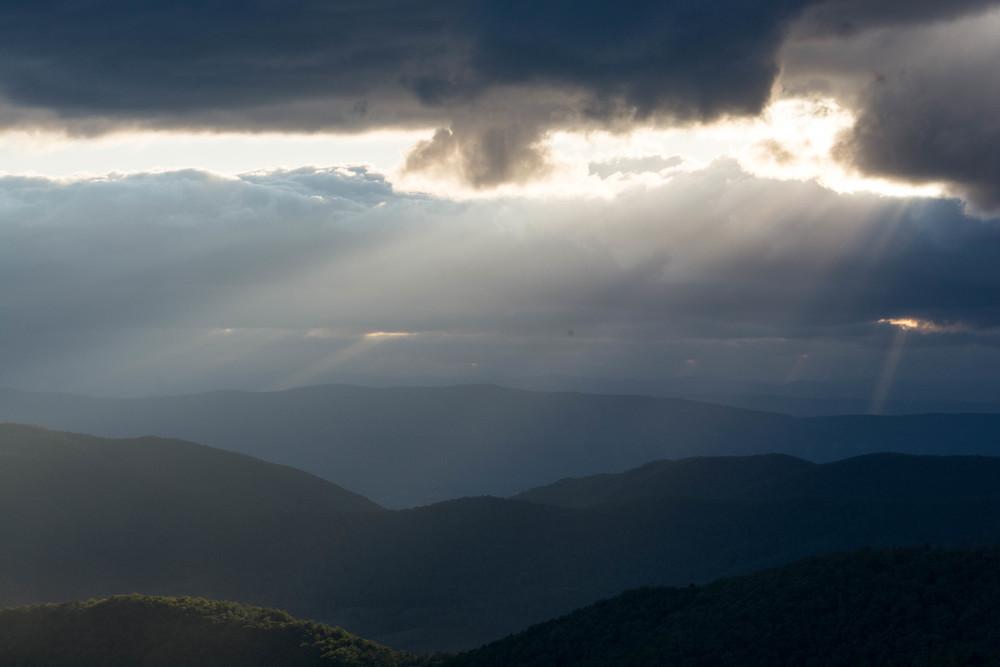 nature, landscape, forest, mountains, ridges, appalachia, appalachian, shenandoah, sky, clouds, sun, sunset