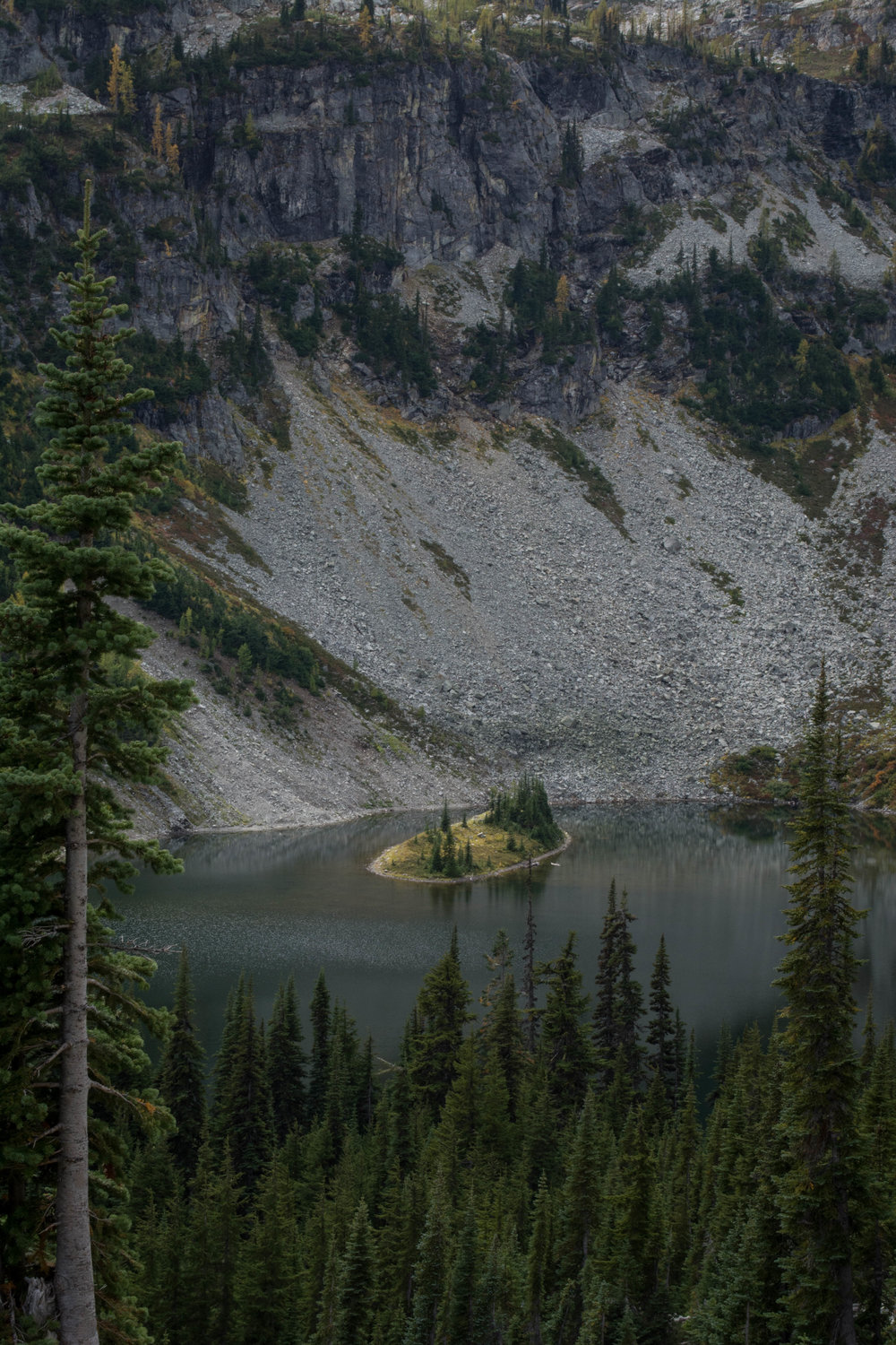 nature, landscape, north cascades, evergreen, lake, mountain