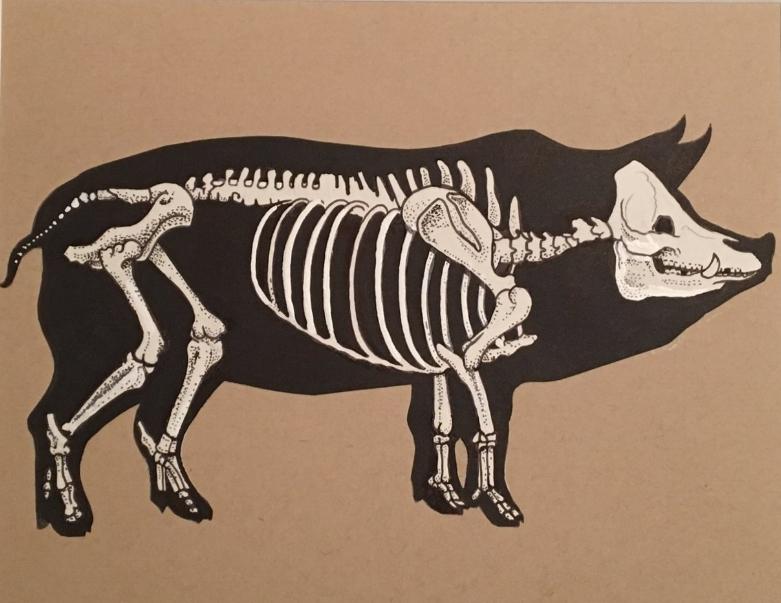 """Skeleton Pig"" 2017"