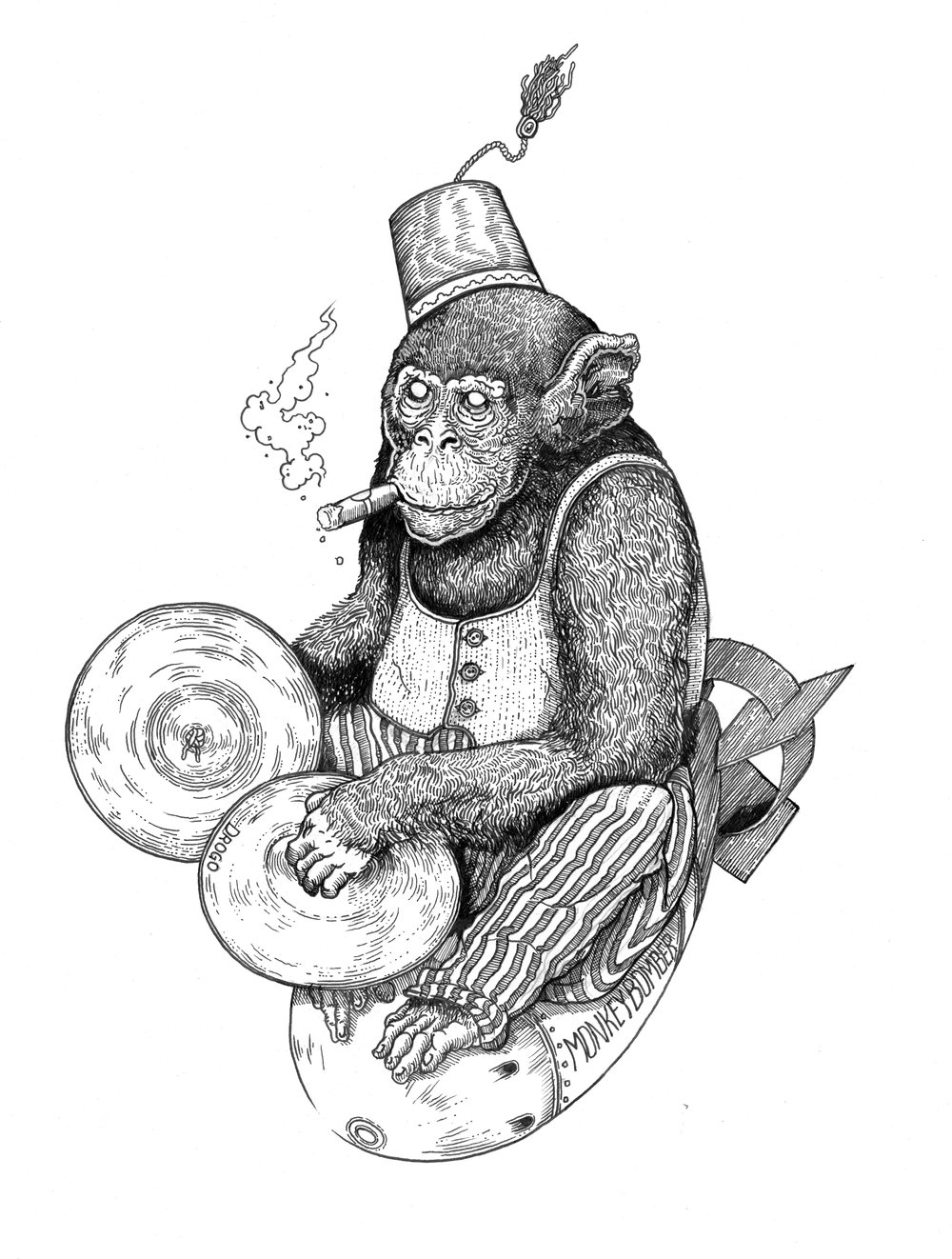 """'Monkeybomber' Logo for Drogo Coffee"" 2018"