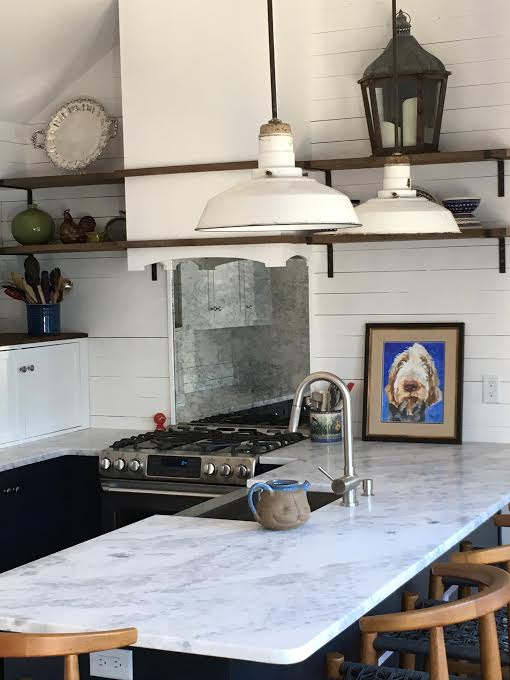 ... A Repurposed Chest Of Drawers Used As The Vanity, Timbers As The Collar  Ties, Sculpted Old Wood Shelves In The Kitchen, Hand Made Brackets, ...