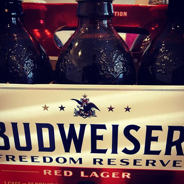 Perhaps the only time I'll buy Bud, but it is for a great cause. #veterans #budweiser #beer #america #patriotic #thankyou