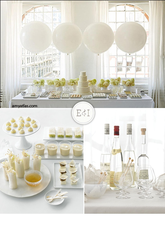 white and yummy engaged inspired wedding planning