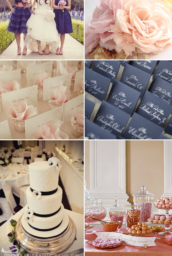 Inspiration} Navy Blue and Blush Pink | Engaged & Inspired Wedding ...
