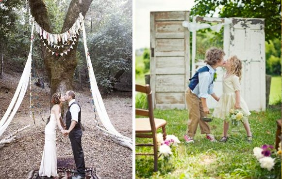 Creative ceremony altars engaged inspired wedding planning source junglespirit Image collections