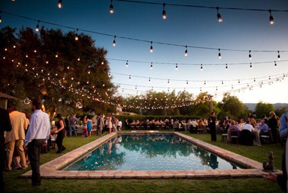 poolside wedding inspiration engaged inspired wedding planning. Black Bedroom Furniture Sets. Home Design Ideas