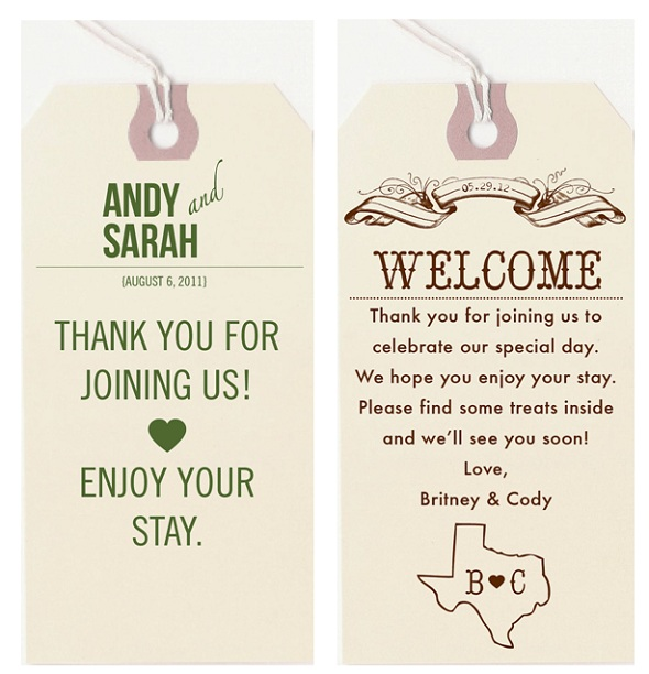 Wedding Hotel Gift Bag Message : ... for those staying at a hotel, I absolutely love these door hangers