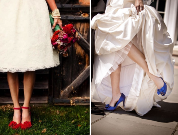 red wedding shoes, blue wedding shoes