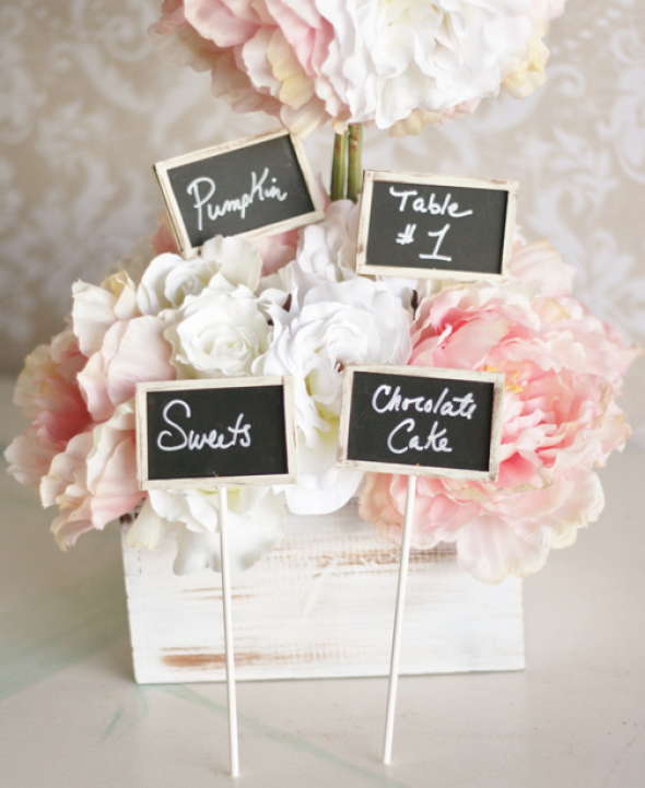 Garden Chic Table Numbers | Engaged & Inspired Wedding Planning