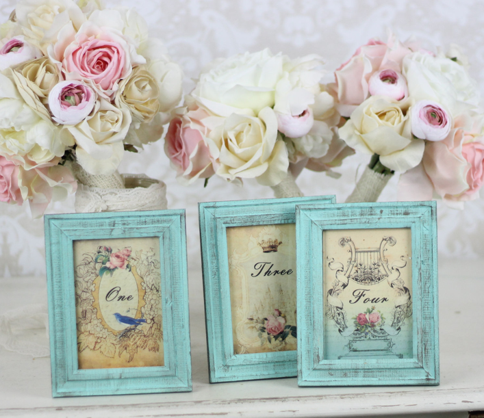 Garden Chic Table Numbers   Engaged & Inspired Wedding Planning