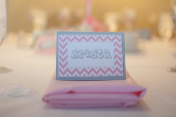 chevron name cards