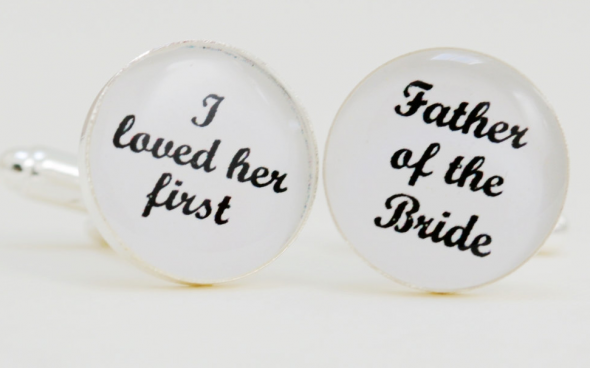 i loved her first cufflinks