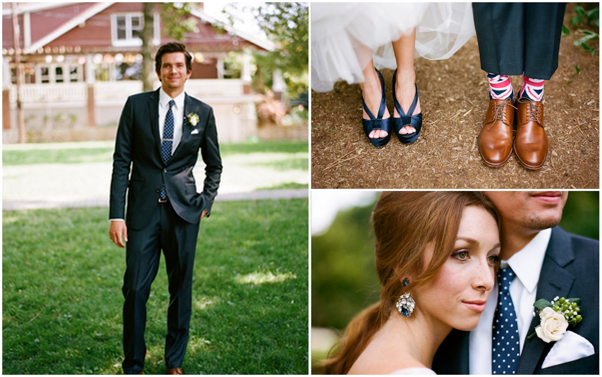 Groom Fashion {navy suits} | Engaged & Inspired Wedding Planning