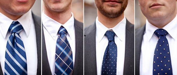 navy mismatched ties