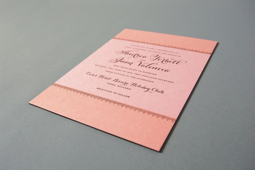 foiled invitations from dauphine press engaged inspired wedding
