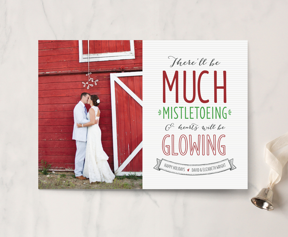 Much Mistletoeing Holiday Photo Card by Erica Krystek for Minted 2.jpg