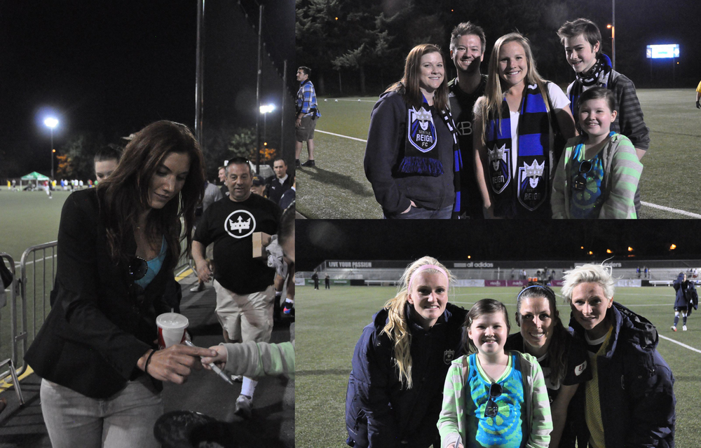 The Brown family at the Seattle Reign FC game on May 4th