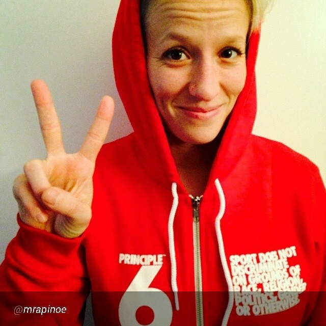 "By @mrapinoe ""Join me in supporting Principle6.org for equality at the Olympics! @AthleteAlly #P6"""