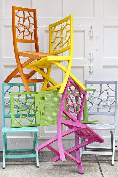 happyhues :     These chairs are beautiful! (via  Nursery Notations: Colorful Desk Chairs )