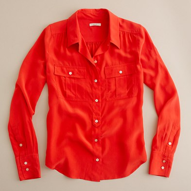 Blythe Blouse from J.Crew.  Purchased today for wedding weekend.  Made my month.